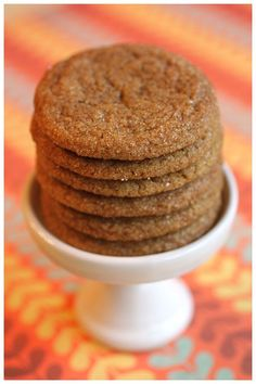 I don't recall ever really liking ginger cookies. ?And I believe the biggest reason why is that whenever I was offered one. it was always a hard cookie. ?A dunking sort of cookie. ?And that just wasn't my thing. ?I like my cookies soft and chewy. So when a plate of soft and chewy ginger …
