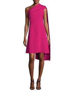 Draped One-Shoulder Dress, Fuchsia by Narciso Rodriguez at Neiman Marcus.