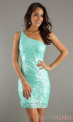 Sequin Cocktail Dresses, Scala Short Sequin Prom Dress- PromGirl