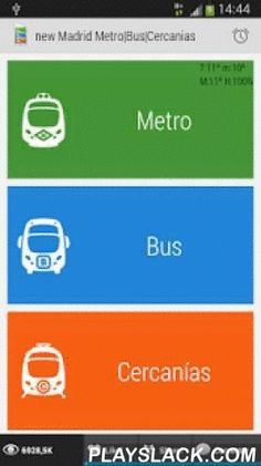Madrid Metro|Bus|Cercanias  Android App - playslack.com ,  Warning: This app is targeted to devices running Android versions prior to Honeycomb (API 11): Froyo 2.2 and GingerBread 2.3. A Material design updated app for newer devices is available at https://play.google.com/store/apps/details?id=com.greenlionsoft.free.madridEssential day to day application for locals, tourists, students, Erasmus, business visits ...Features: - | Metro de Madrid | GPS Metro Station Finder. Real time journey…
