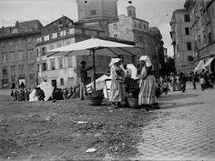 Foto storiche di Roma - Mercato a Piazza Giudea Anno: 1900 ca
