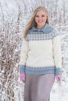 KH Strikkepoesi 012 EIRA - genser i ispasteller