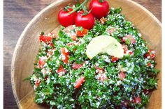 It's hot and I am craving greens! Right now there is nothing better than this simple salad! You only need 4 ingredients: . Easy Salads, Summer Salads, 4 Ingredients, Cobb Salad, Cravings, Vegetables, Hot, Summer Salad, Vegetable Recipes