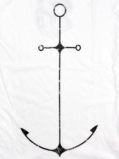 Flaming13 — Ladies Tattoo Anchor T-shirt