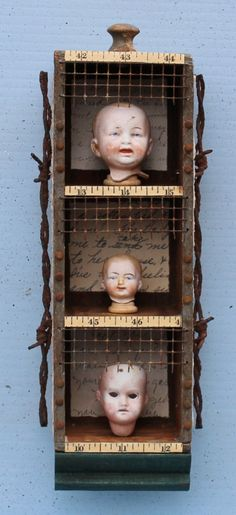 Assemblage Found Object Art Shrine Shadow Box by nunnsense on Etsy