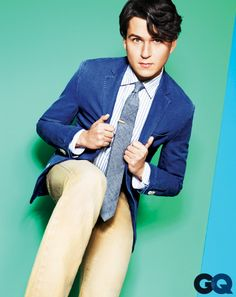 Right blue jacket does go with beige pants well!! Vampire Weekend Shows Us Faded Colors For Spring: Wear It Now: GQ