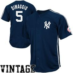 4036aa553 Majestic Joe DiMaggio New York Yankees Cooperstown Throwback Crosstown  Rivalry Jersey – Navy Blue Yankees Gear