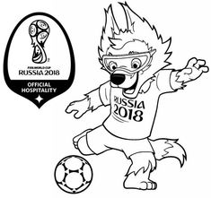 Get The Latest Free 2018 Russia Zabivaka Mascot World Cup Coloring Page Images Favorite Pages