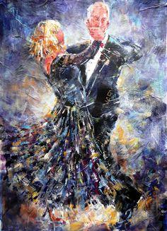 Ballroom Dancing - Waltz, Foxtrot or Quickstep - Painting in Dance Art Gallery