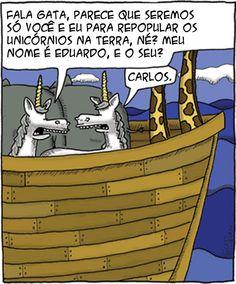 É assim ocorreu a extinção dos unicórnios  Culpa do Noé                                                                                                                                                                                 Mais
