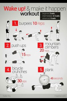 Good workout :) I like to add one set of pull-ups after the push-ups.