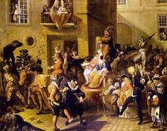 Carnavalsparade door Pierre Bergaigne (1652 – 1708)