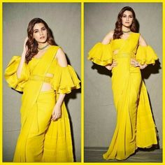 B-town wore these Season - Saree Styles Sari Blouse Designs, Designer Blouse Patterns, Fancy Blouse Designs, Indian Fashion Dresses, Dress Indian Style, Indian Designer Outfits, Trendy Sarees, Stylish Sarees, Lehenga