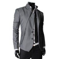 TheLees Mens unbalance 2 button china collar jacket From TheLees Price: $56.99