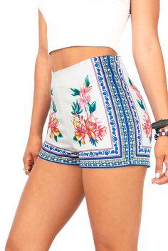 Tropic Trip High Waist Shorts