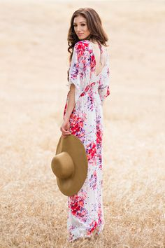 Floral Maxi Dresses for Women, Flowy Maxi Dresses, Perfect Spring Dresses for Women
