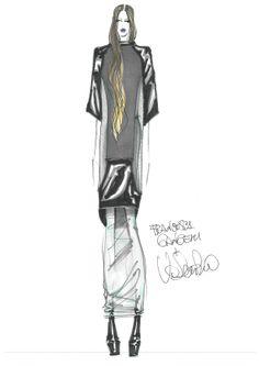 Francesca Gangemi nel #bozzetto di Valentino Fiammetta, #fashion #designer by #harim #accademiaeuromediterranea