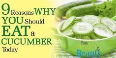 People should definitely add cucumbers in their daily diet because not only they are delicious, but they are low in calories, fat-free and full of essential nutrients as well, which will improve yo…