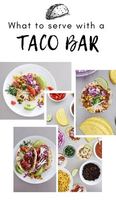 This post shares 5 delicious recipes for things to serve alongside a taco bar, as well as all of the normal items to round out this delicious meal. Tacos can be simple and completely satisfying for both adults and kids. #kidfriendlyfood #tacobar #fromscratchmeals Cabbage Slaw, Red Cabbage, Taco Bar Party, Taco Side Dishes, Blender Salsa, Delicious Recipes, Yummy Food, Tacos, Taco Fillings