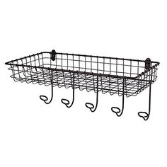 Spectrum 010591047155 Industrial Gray Vintage Basket and Hook Station *** Hurry! Check out this great product : Floating Shelves
