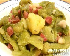 judias verdes salteadas con patatas y jamón