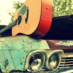 Guitar + car
