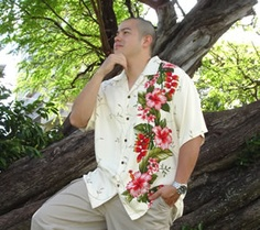[[start tab]] DESCRIPTION Celebrate and look good with this unique Hawaiian Paradise Shirt. The beauty of Hawaii captured in soft rayon, specially cut and sewn to emphasize a look of the 1960s. Attent