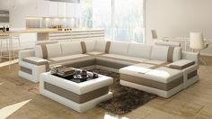 VGEV-SP-5083B-Divani Casa 5083B Modern Bonded Leather Sectional SofaFinishing: Bonded LeatherDimensions:2 Seater: W73