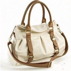 white & brown handbag  $16.30