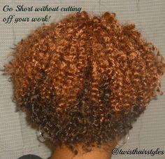 Crochet Braids by Twist. Short Cropped Cut with Bohemian Curl  Sponsored By: Grandma's Crochet Shop