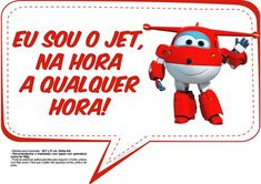 Plaquinhas Divertidas Super Wings 3