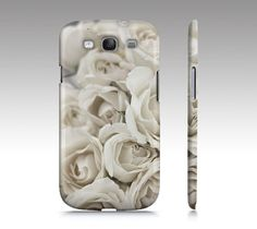 White Ivory Roses, iPhone Case OR Samsung Galaxy 3 Case, For iPhone 4/4S/5 OR Samsung Galaxy 3, Shabby Chic Cell Phone Cover, Click and win a Samsung Galaxy S IV #samsung #galaxy #s4