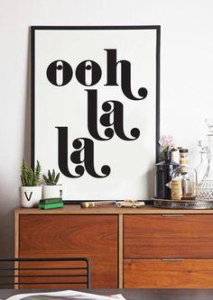 Ooh La La mode Poster Français cite par lettersonlove sur Etsy, £10.00