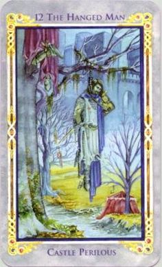 The Hanged Man - Restriction; self-sacrifice. Championing the noble cause of others. Feeling drained of energy and resources. A wise and sometimes temporary surrender in order to conserve energy. Enduring self-sacrifice as a part of initiation.