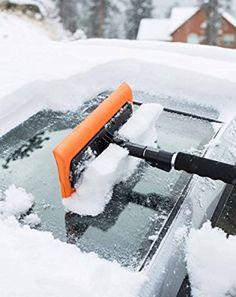Zento Deals Car Vehicle Auto Van Bus Winter Snow /& Ice Scraper Brush Sleet Cold