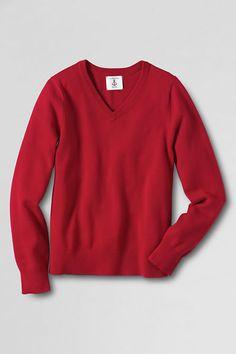 Men's Performance Fine Gauge V-neck Sweater from Lands' End