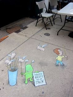 David Zinn was with Sluggo at The Peaceable Kingdom. July 18, 2013