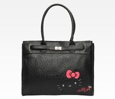 Hello Kitty Shoulder Tote: Ostrich