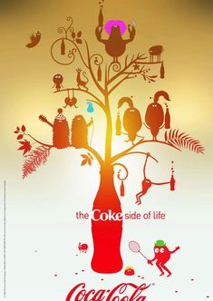 Print advertisement created by Wieden + Kennedy, Netherlands for Coca-Cola, within the category: Non-Alcoholic Drinks. Coke Ad, Coca Cola Ad, Creative Advertising, Print Advertising, Coca Cola Merchandise, Coca Cola Commercial, Coke Drink, Juice Ad, Modern Prints