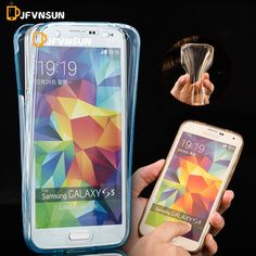 For Samsung Galaxy S6 S7 S5 S4 S3 Front + Back Soft Clear TPU Case S6 Edge S7 Edge NEW SLIM Full Body 360 Degree Protect Covers
