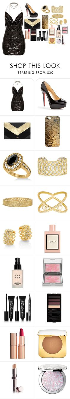 """""""Gettin all The Guys"""" by style-koala ❤ liked on Polyvore featuring Christian Louboutin, Vince Camuto, Allurez, Buccellati, Yossi Harari, SUSAN FOSTER, Roberto Coin, Gucci, Bobbi Brown Cosmetics and Sisley"""