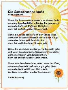 The summer sun is laughing. When the summer sun is warm … – Adele Pins Funny Christmas Gifts, Christmas Humor, Christmas Gift Tags, Summer Poems, German Language Learning, Diy Crafts To Do, Finger Plays, Cute Family, Summer Sun