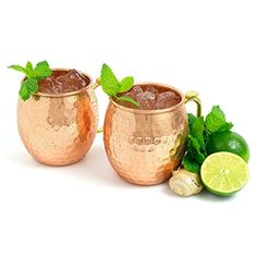 KOLDD 100 % Pure Solid Moscow Mule Copper Mugs – 16 oz Set of 2 Hammered – Hand Crafted Unlined Barrel Cup Review