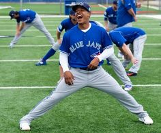 The official website of the Toronto Blue Jays with the most up-to-date information on scores, schedule, stats, tickets, and team news. Blue Jay Way, Go Blue, Marcus Stroman, American League, Toronto Blue Jays, Team Photos, Espn, Girls Best Friend, Cheerleading