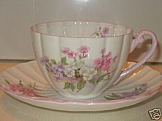 Shelley Stocks Cup And Saucer Ludlow Shape