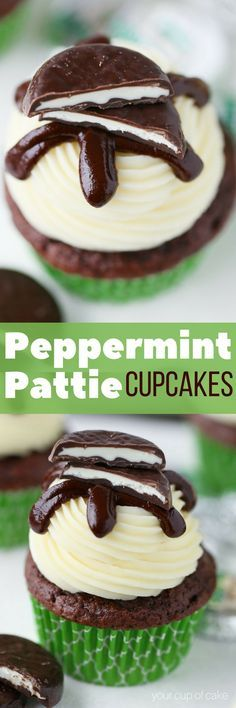 Easy Peppermint Pattie Cupcakes, yum!!
