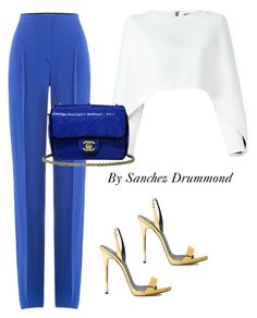 Untitled #616 by sanchez-drummond on Polyvore featuring polyvore fashion style Balmain Emilio Pucci Giuseppe Zanotti Chanel clothing