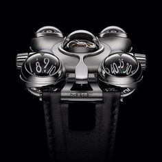 So, @mbandf just broke instagram. You're looking at the HM6 Space Pirate and yes, it's a watch. Inspired by Japanese cartoon and featuring a retractable hyperspace tourbillon shield (for real), it's quite the statement piece #mbandf #hm6 #spacepira