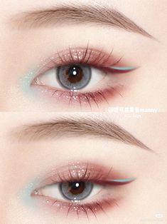 Doll Eye Makeup, Eye Makeup Art, Cute Makeup, Eyeshadow Makeup, Makeup Tips, Beauty Makeup, Hair Makeup, Peach Makeup, Ulzzang Makeup