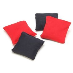 Bulk Buy: Darice DIY Crafts Bean Bag Red and Blue 3 x 3 inches 4 pieces (10-Pack) 9190-090 -- Check out the image by visiting the link.